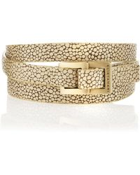 Elie Tahari - Stingrayembossed Belt - Lyst