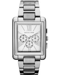 Michael Kors Squarecase Watch Stainless Steel - Lyst