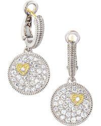 Judith Ripka - Pave Disc Earrings - Lyst