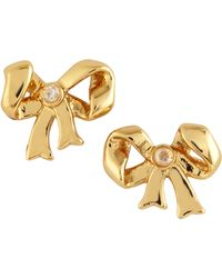Juicy Couture Bow Stud Earrings Golden - Lyst