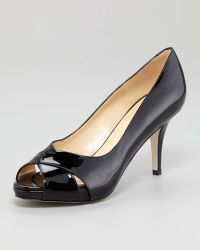 Kate Spade Billie Patent Leather Peeptoe Pump - Lyst