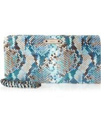 orYANY - Willow Snake Printed Clutch - Lyst