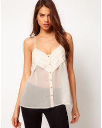 ASOS Collection   Asos Cami with Layers and Button Front   Lyst
