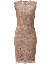 Emilio Pucci Pearl Lace Dress pink - Lyst
