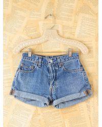 Free People Vintage Levis Highwaisted Denim Shorts - Lyst