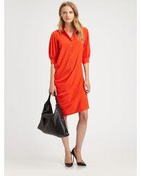 McQ by Alexander McQueen Silk Rich Shirtdress - Lyst