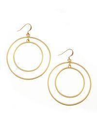 Kenneth Jay Lane Doublecircle Hoop Earrings - Lyst