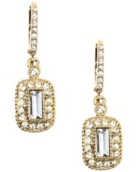 Givenchy Gold-Tone Crystal Drop Earrings - Lyst
