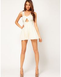 ASOS Collection -  Playsuit with Cut Out - Lyst