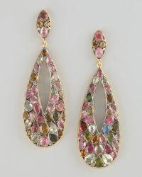 Wendy Brigode - Multi Stone Drop Earrings - Lyst