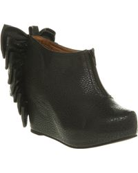 Jeffrey Campbell Back Bow Wedge Boots - Lyst