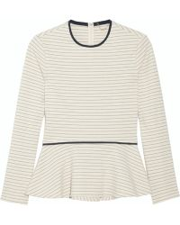 The Row Sally Striped Cotton Jersey Peplum Top - Lyst