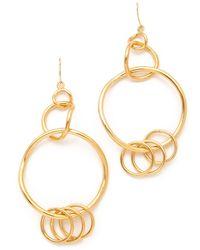 Belle Noel Chandelier Hoop Earrings - Lyst