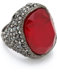 Kenneth Jay Lane - Red Opal Cocktail Ring - Lyst