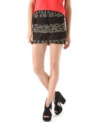 Zero + Maria Cornejo Tate Skirt - Black/Tan black - Lyst