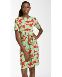 Diane von Furstenberg Shannon Silk Wrap Dress - Lyst