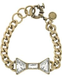 Marc By Marc Jacobs   Brass and Crystal Bow Bracelet   Lyst