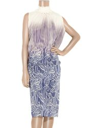 Clements Ribeiro - Printed Silk Dress - Lyst