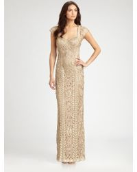 Sue Wong Embroidered Gown - Lyst