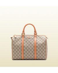 Gucci Joy Original Gg Canvas Boston Bag - Lyst