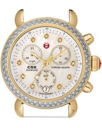 Michele Csx 36 Day Two Tone Diamond Dial Watch Head, 36Mm - Lyst