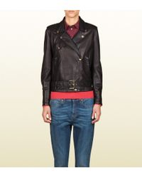 Gucci Belted Blouson - Lyst