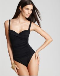 La Blanca Sweetheart Ruched One Piece Swimsuit - Lyst