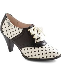 ModCloth Rachel Antonoff For Bass Saddled with Sweetness Heel in Dots black - Lyst