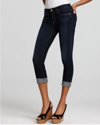 7 For All Mankind Jeans Crop and Roll Skinny Jeans  - Lyst
