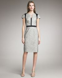 Lela Rose Paneled Sheath Dress - Lyst