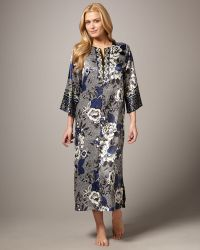 Oscar de la Renta - Twilight Garden Silk Nightgown - Lyst