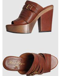Robert Clergerie Platform Sandals - Lyst