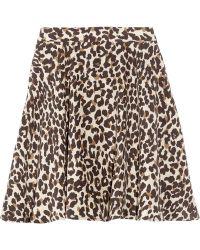 Steven Alan - Heather Leopard-print Silk Skirt - Lyst