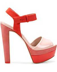 Zara Combined Patent Leather Sandal - Lyst