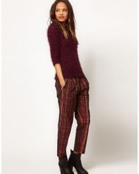 ASOS Collection Asos Peg Trousers in Tartan - Lyst