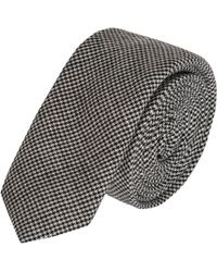 Band of Outsiders - Skinny Micro Houndstooth Tie - Lyst