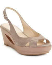 Calvin Klein Rosaria Slingback Wedge Sandals - Lyst