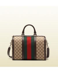 Gucci Vintage Web Original Gg Canvas Boston Bag - Lyst