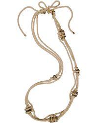 Lanvin Cordes Diamants Long Necklace - Lyst