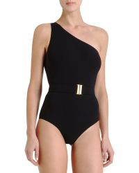 Lanvin | Belted Swimsuit | Lyst