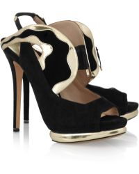 Nicholas Kirkwood Suede and Metallic Leather Sandals - Lyst