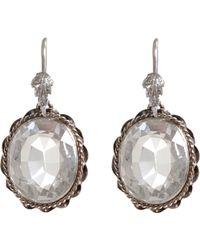 Olivia Collings - Rock Crystal Oval Earrings - Lyst