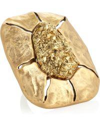 Oscar de la Renta 24karat Goldplated Ring - Lyst