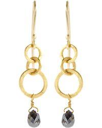 Rosanne Pugliese - Black Diamond Mini Hoop Earrings - Lyst