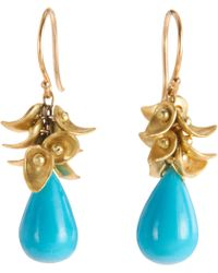Ten Thousand Things - Turquoise Paisley Cluster Earrings - Lyst