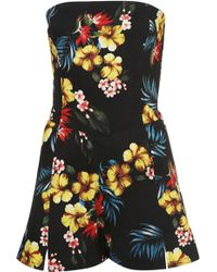 TOPSHOP - Cosmic Sequin Playsuit By Rosa Bloom - Lyst
