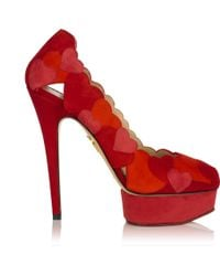Charlotte Olympia Love Me red - Lyst
