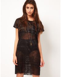 Diesel Burntout Dress - Lyst