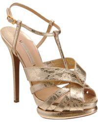 Nicholas Kirkwood Fused Lace Peep Toe Sandal - Lyst