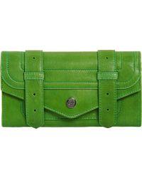 Proenza Schouler Ps1 Continental Wallet green - Lyst